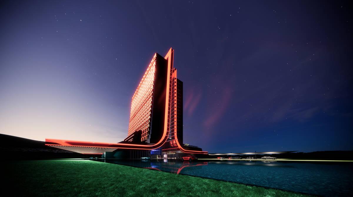 A rendering of Atari Hotels (Atari Hotels)