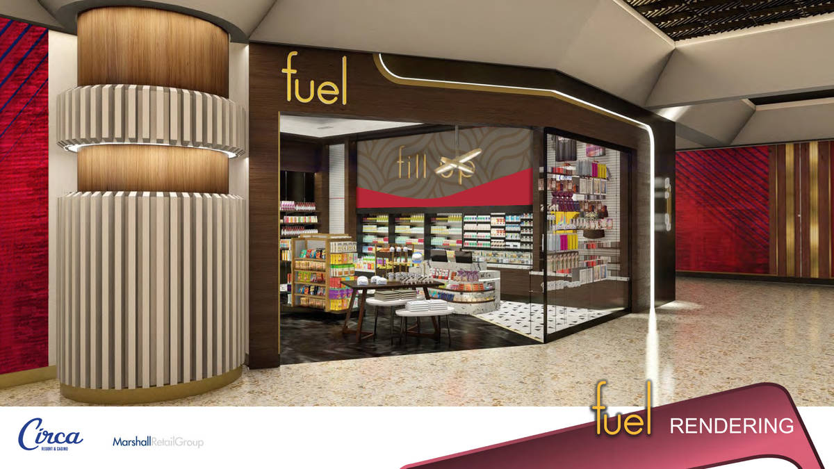 A rendering of Fuel, one of the retail components inside Circa. (Circa)