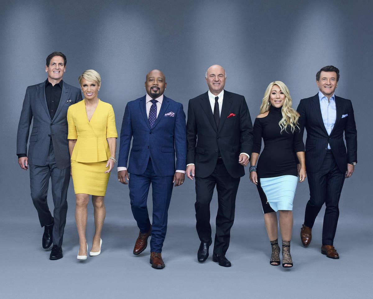 """SHARK TANK - ABC's """"Shark Tank"""" stars Mark Cuban, Barbara Corcoran, Daymond John, Kevin O'Leary ..."""