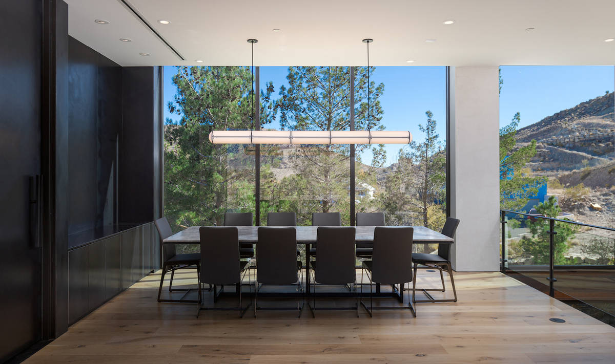 The dining room is on the deck. (The Ivan Sher Group)