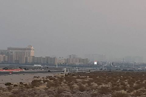 A north-northeast wind flow should improve Las Vegas sky conditions starting Thursday, Oct. 15, ...