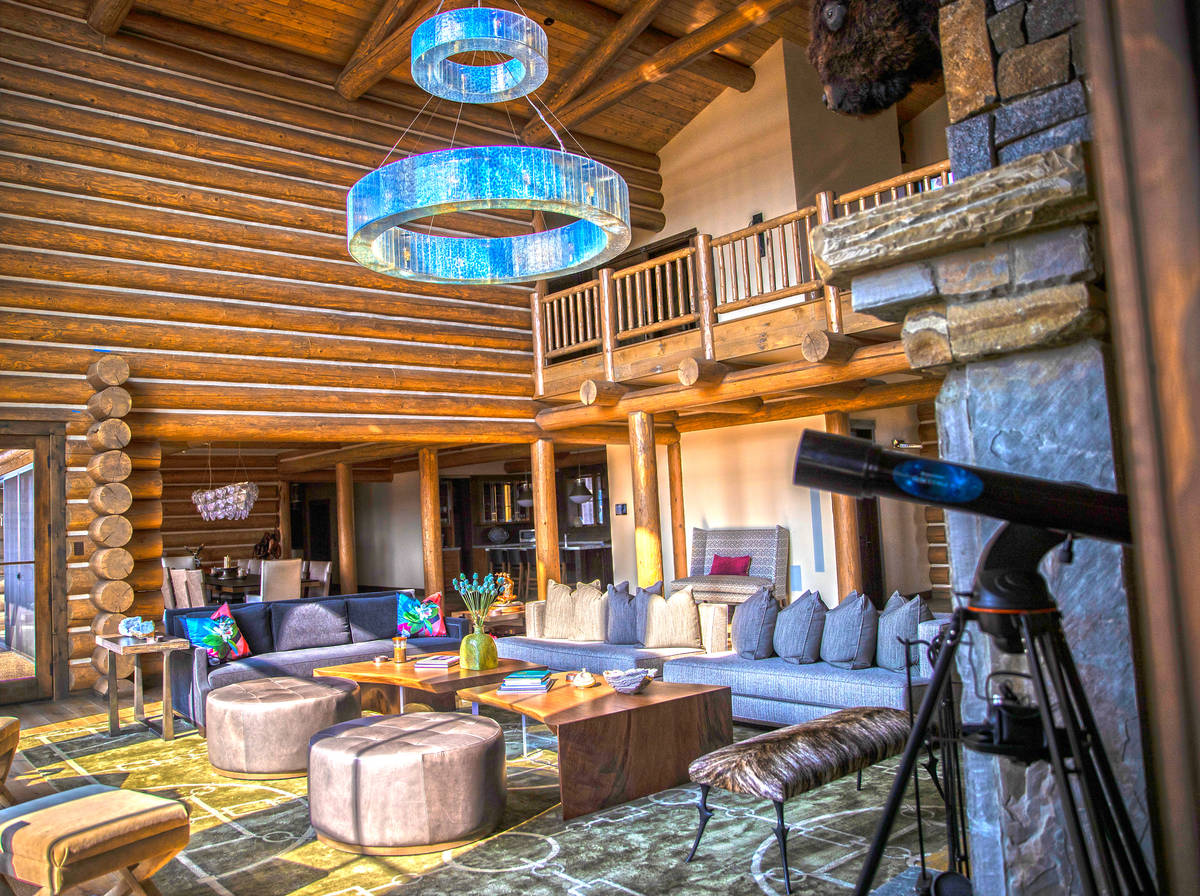 A custom home at Rock Creek Cattle Company on Friday, Oct. 9, 2020, in Deer Lodge, Mont. (Benja ...