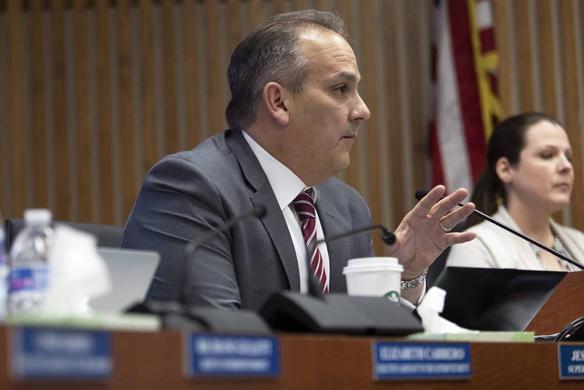Clark County School District Superintendent Jesus Jara (Ellen Schmidt/Las Vegas Review-Journal ...