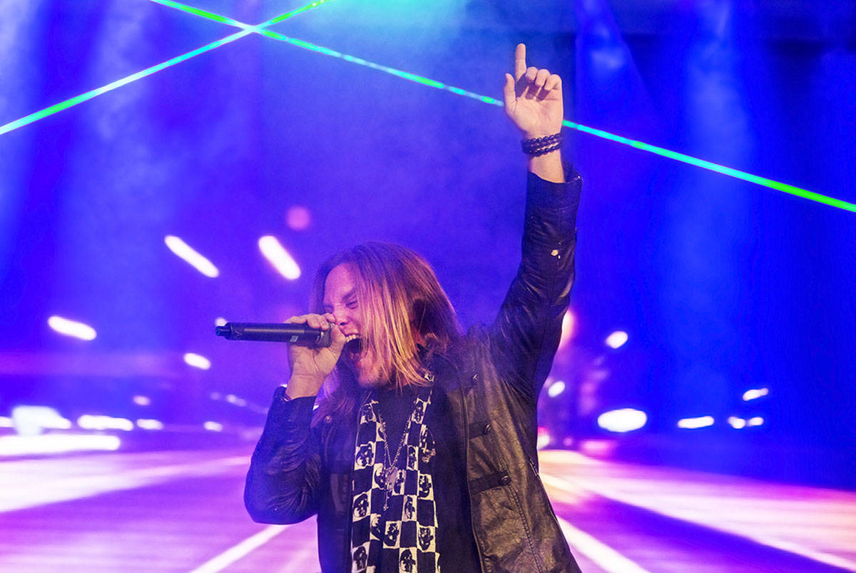 Andrew Freeman is shown during 'Raiding the Rock Vault' classic rock revue on Monday, May 1, 20 ...