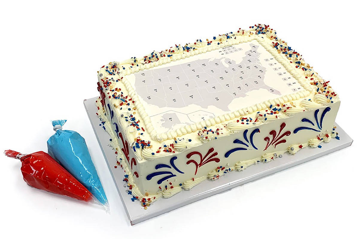 The Electoral College Map Cake