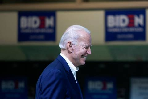 Presidential candidate Joe Biden. (Ellen Schmidt/Las Vegas Review-Journal) @ellenkschmidt_