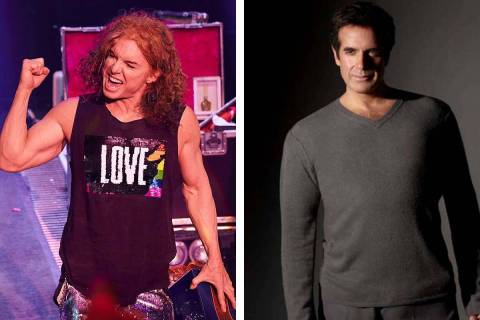 Carrot Top, left, and David Copperfield are part of the performers set to return to MGM Resorts ...