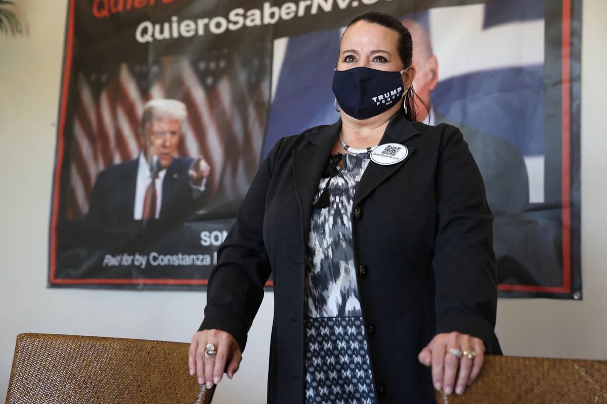 Constanza Mancilla De Areizaga, owner of local company Everything Entertainment, poses for a po ...