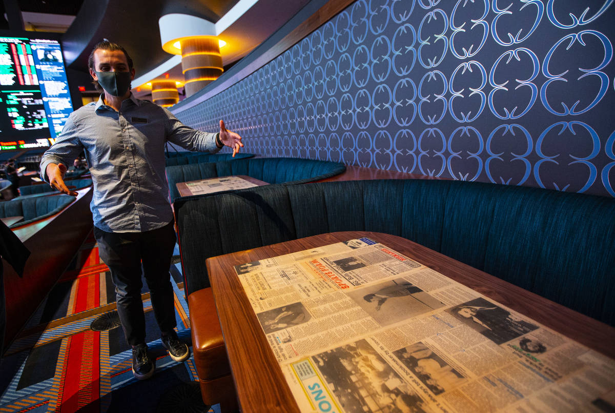 Matt Metcalf, director of the Circa Sportsbook, talks about the newspaper clippings he found an ...