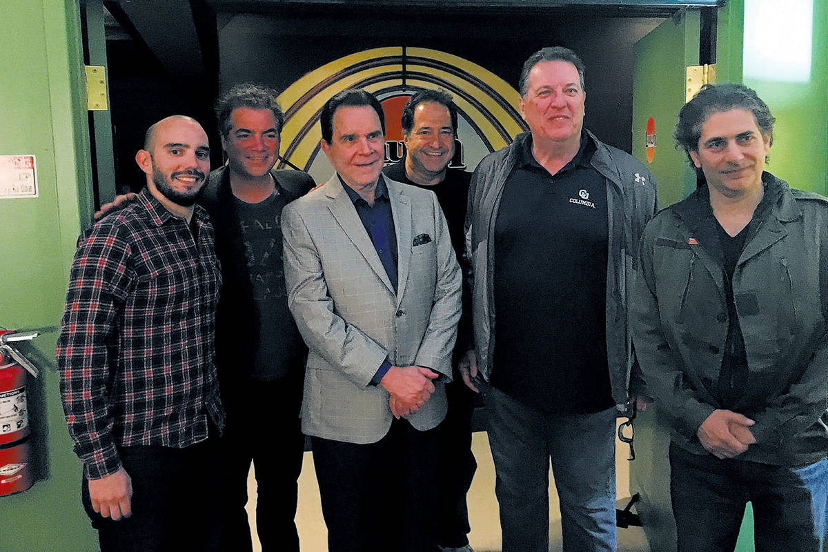 Shown at the Laugh Factory at the Tropicana on Wednesday, May 10 (from left): Production offici ...