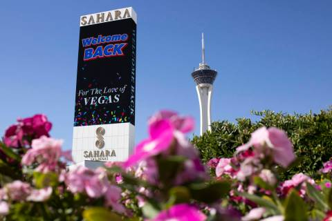 Sahara Las Vegas on Monday, June 22, 2020 in Las Vegas. (Ellen Schmidt/Las Vegas Review-Journal ...