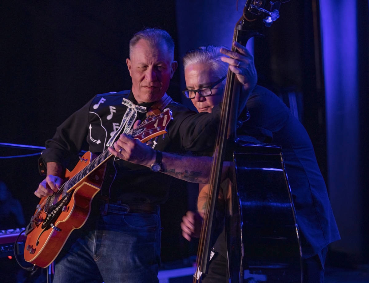 The Reverend Horton Heat's Jim Heath, left, and Jimbo Wallace, preform at the Fremont Country C ...