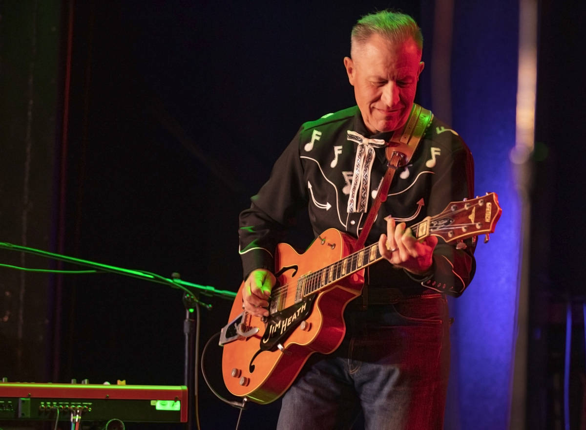 Reverend Horton Heat performs at the Fremont Country Club on Thursday, Oct. 22, 2020, in downto ...
