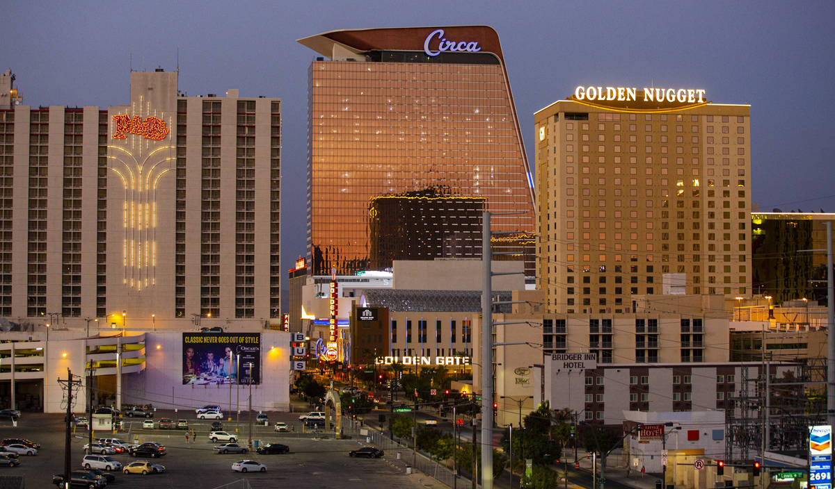 A view of Circa, the first from-the-ground-up casino built in downtown Las Vegas in 40 years, o ...