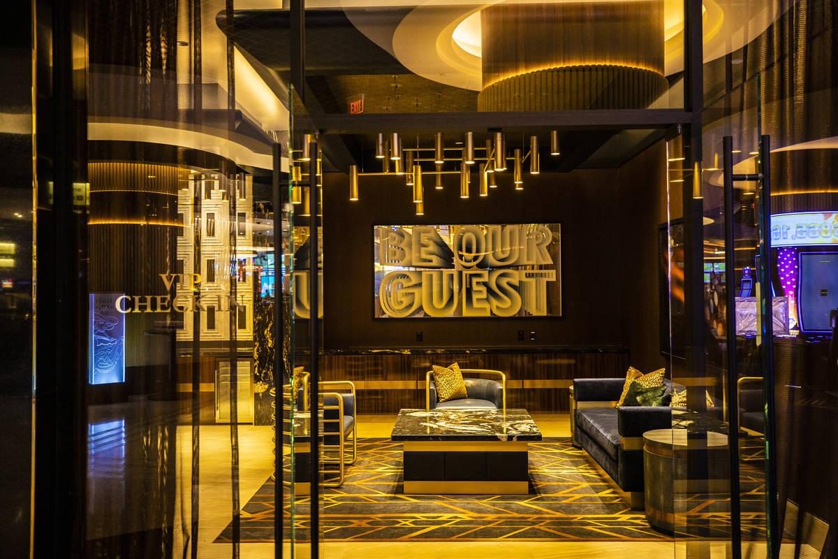 The VIP check in area at Circa on Monday, Oct. 19, 2020, in Las Vegas. (Benjamin Hager/Las Vega ...