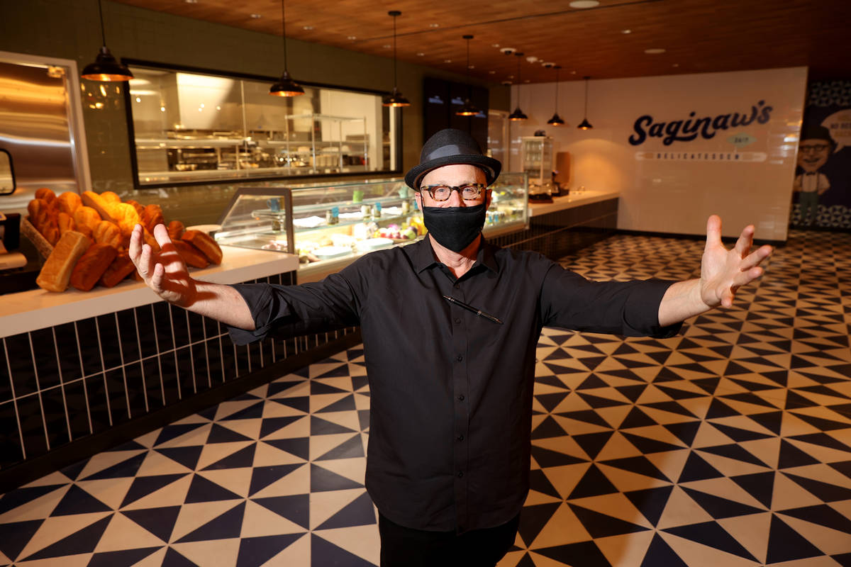 Co-owner Paul Saginaw at Saginaw's Delicatessen during a preview of the downtown resort Monday, ...