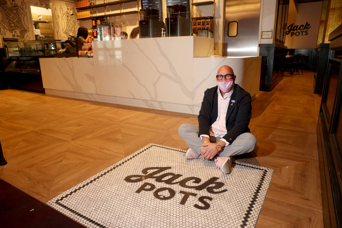 Owner Steve Mangigian at Jack Pots inside Circa in Las Vegas during a preview of the downtown r ...