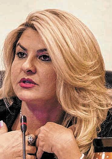 Councilwoman Michelle Fiore speaks about the Badlands golf course development at a City Council ...