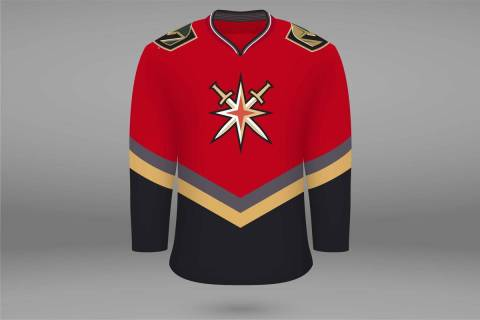 "A mock-up of what the Golden Knights' ""Reverse Retro"" jersey may look like. (Wes Rand/Las Vegas ..."