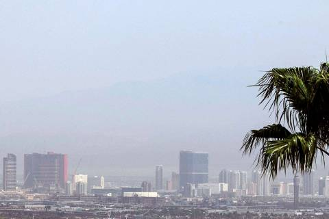 Haze will be in the Las Vegas sky on Thursday, Oct. 22, 2020, and the high of 88 is forecast by ...