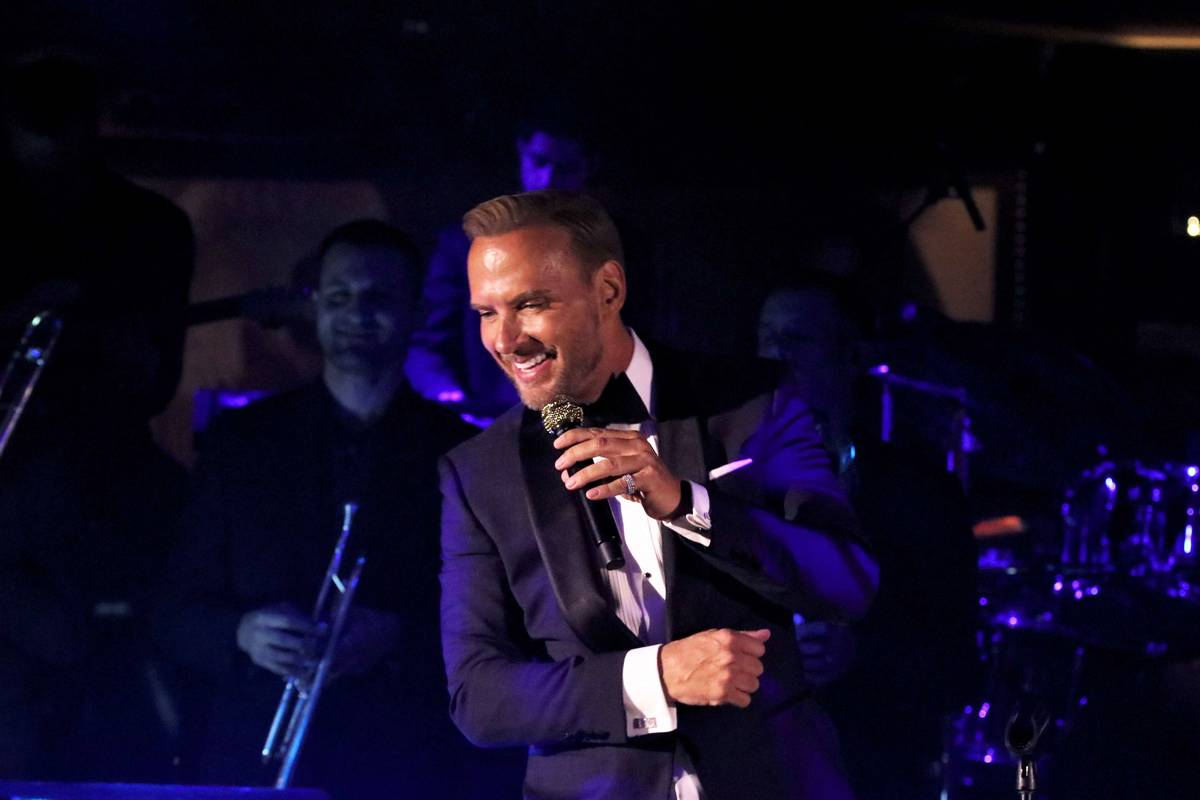 Matt Goss performs at his 10th-anniversary show in Las Vegas at 1 Oak Nightclub at the Mirage o ...