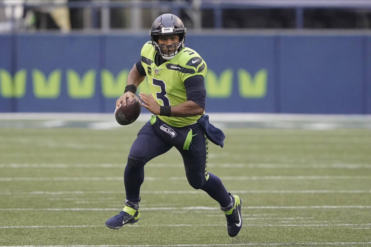 Seattle Seahawks quarterback Russell Wilson in action against the Minnesota Vikings during the ...
