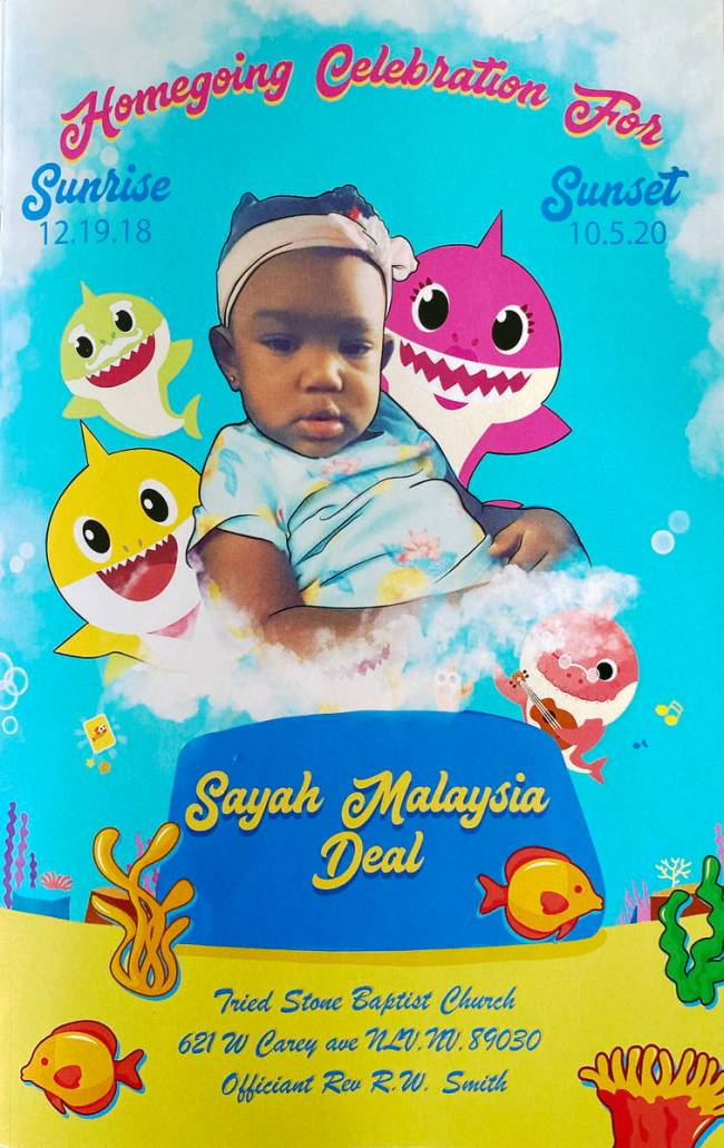 Sayah Deal, 1, died on the afternoon of Oct. 5, 2020, after she spent at least an hour locked i ...