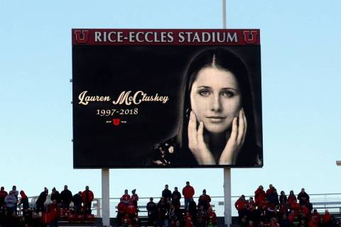 An image of University of Utah track athlete Lauren McCluskey, who was fatally shot on campus, ...