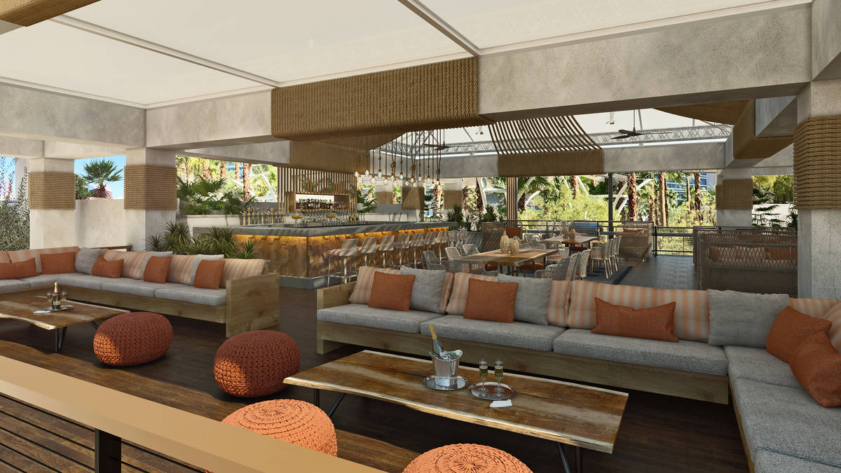 A rendering of the second level of a bar (Courtesy, Virgin Hotels Las Vegas)