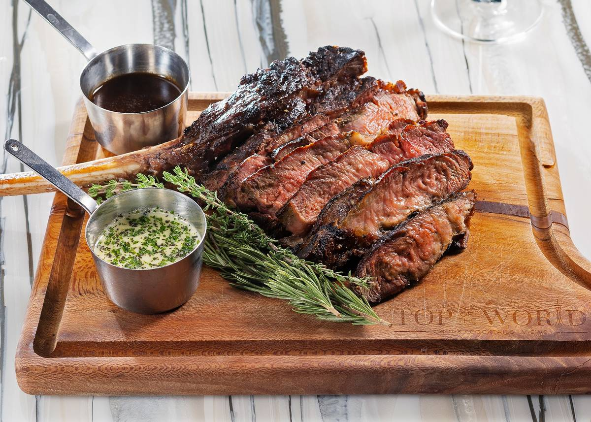 Tomahawk ribeye at Top of the World. (Anthony Mair)