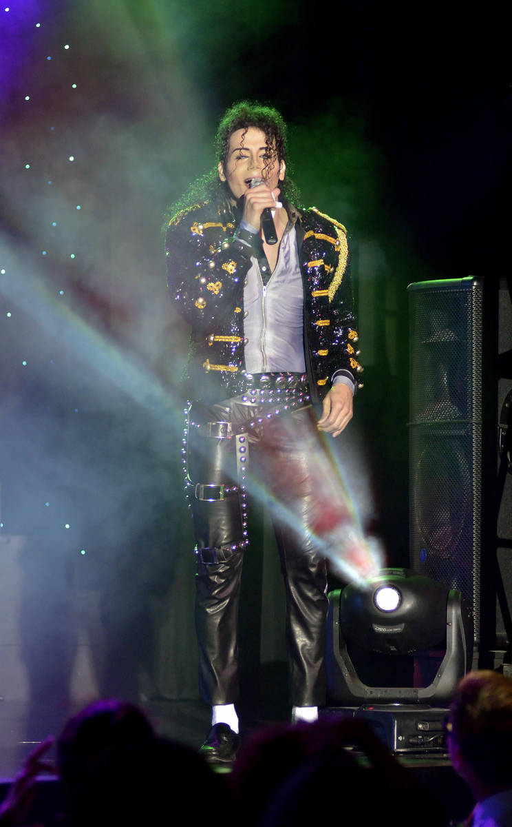"Jalles Franca performs as Michael Jackson during ""MJ Live"" in the showroom at the Str ..."