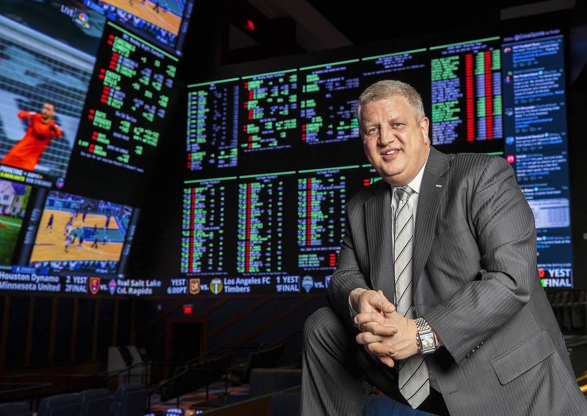 Casino executive Derek Stevens on Monday, Oct. 19, 2020, at Circa, in Las Vegas. (Benjamin Hage ...