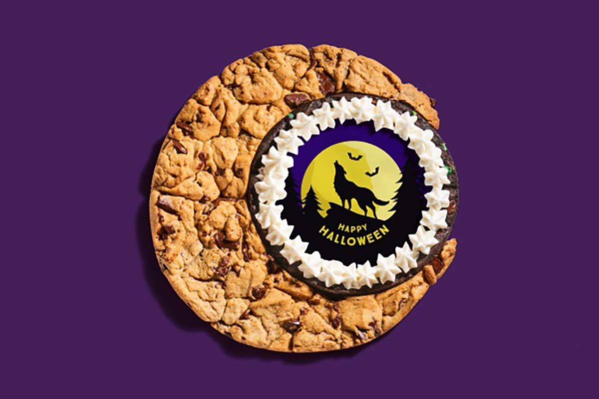Moon Cookie Cake with Halloween center from Insomnia Cookies. (Insomnia Cookies)