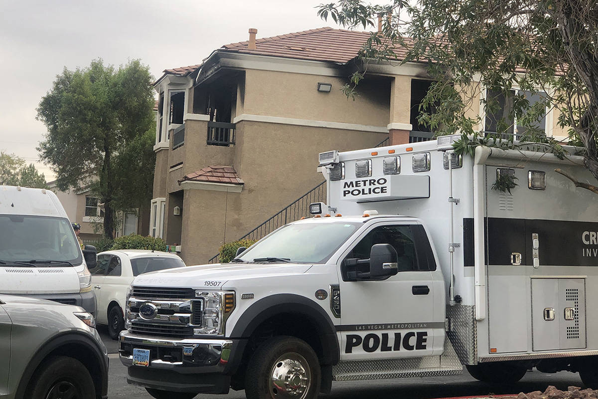 The Las Vegas Metropolitan Police Department and Clark County Fire Department continue their in ...