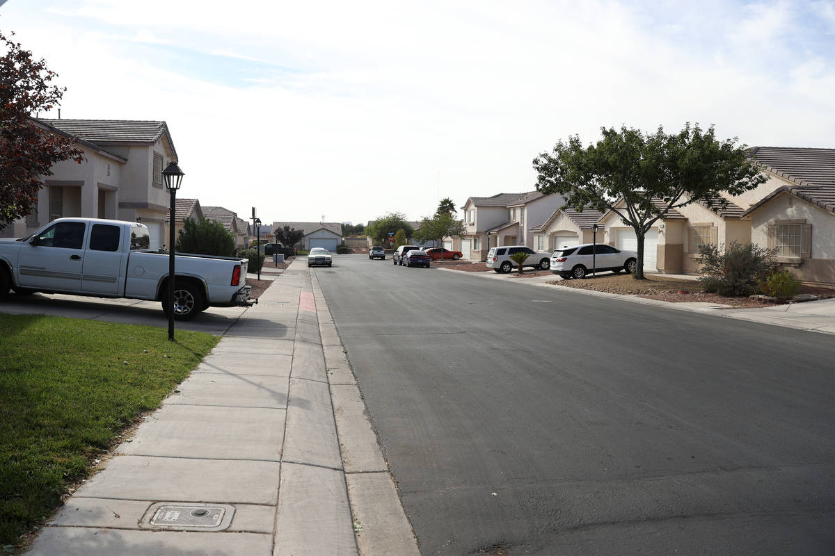 The 3300 block of Park Town Street in North Las Vegas, Saturday, Oct. 24, 2020. A teenage male ...