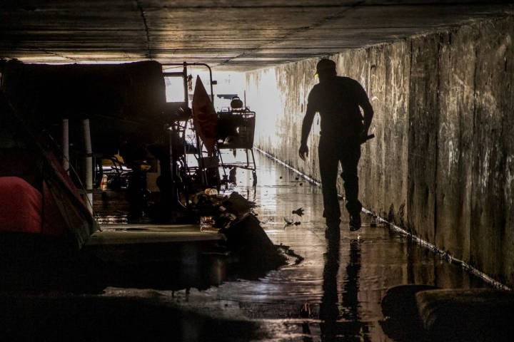 Crossroads CEO Dave Marlon conducts a monthly trip into the flood control tunnels near the form ...