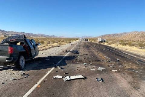 A crash on U.S. Highway 93 near Alamo killed a Las Vegas man Saturday afternoon, according to t ...