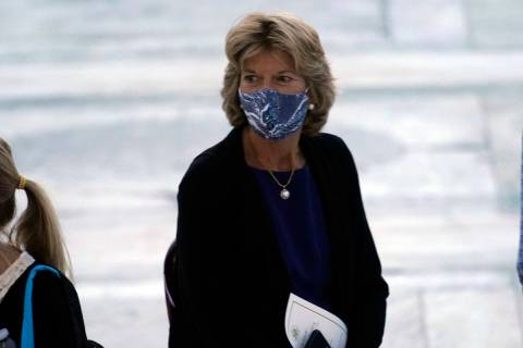 Sen. Lisa Murkowski, R-Alaska, is seen last month in Washington. (AP Photo/Andrew Harnik)