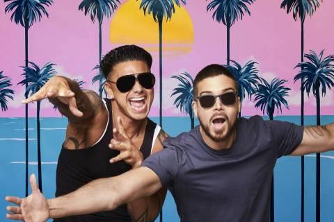 "Paul ""Pauly D"" Delvecchio, left, and Vinny Guadagnino star in ""Jersey Shore Family Vacati ..."