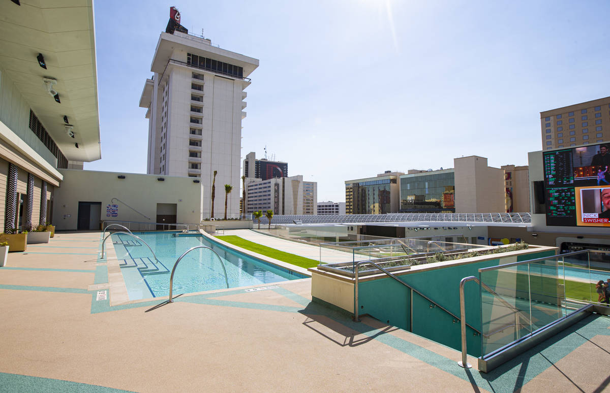 Stadium Swim at Circa, the first from-the-ground-up casino built in downtown Las Vegas in 40 ye ...