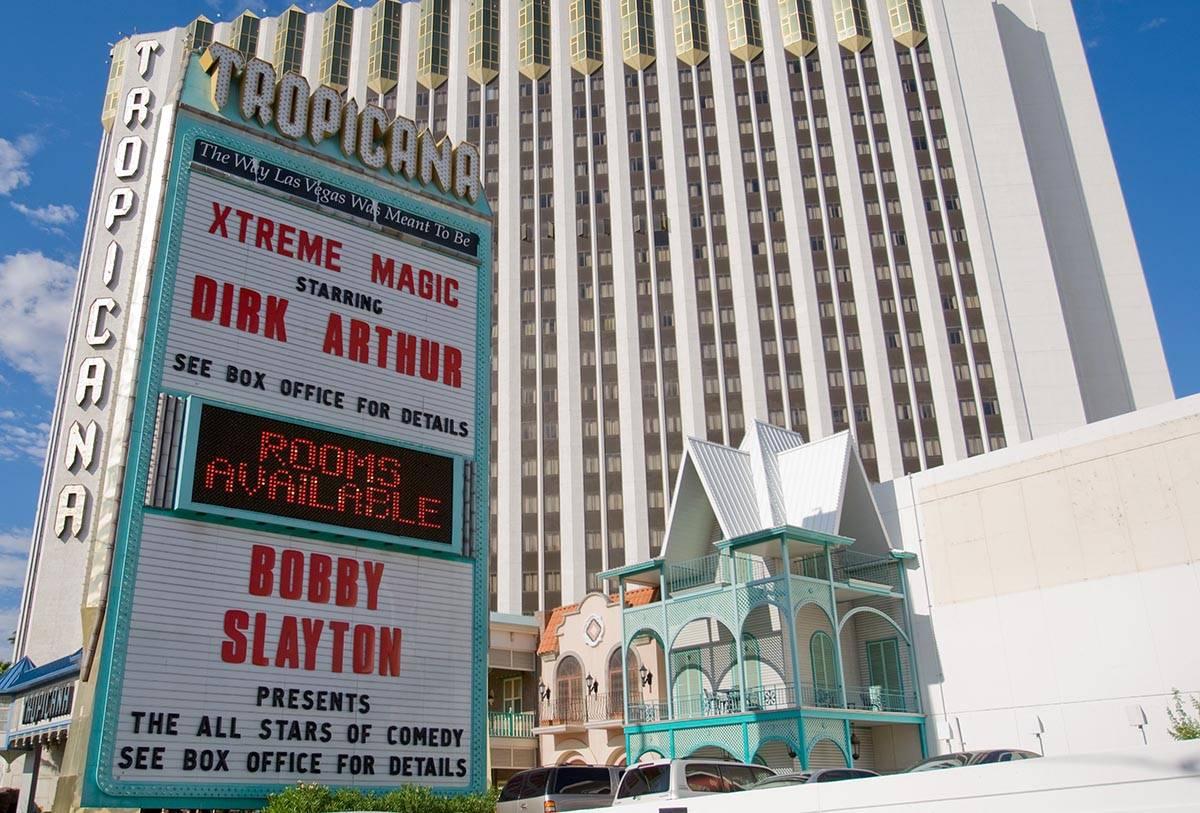 Tropicana shown on Tuesday, July 21, 2009. (Duane Prokop/Las Vegas Review-Journal)