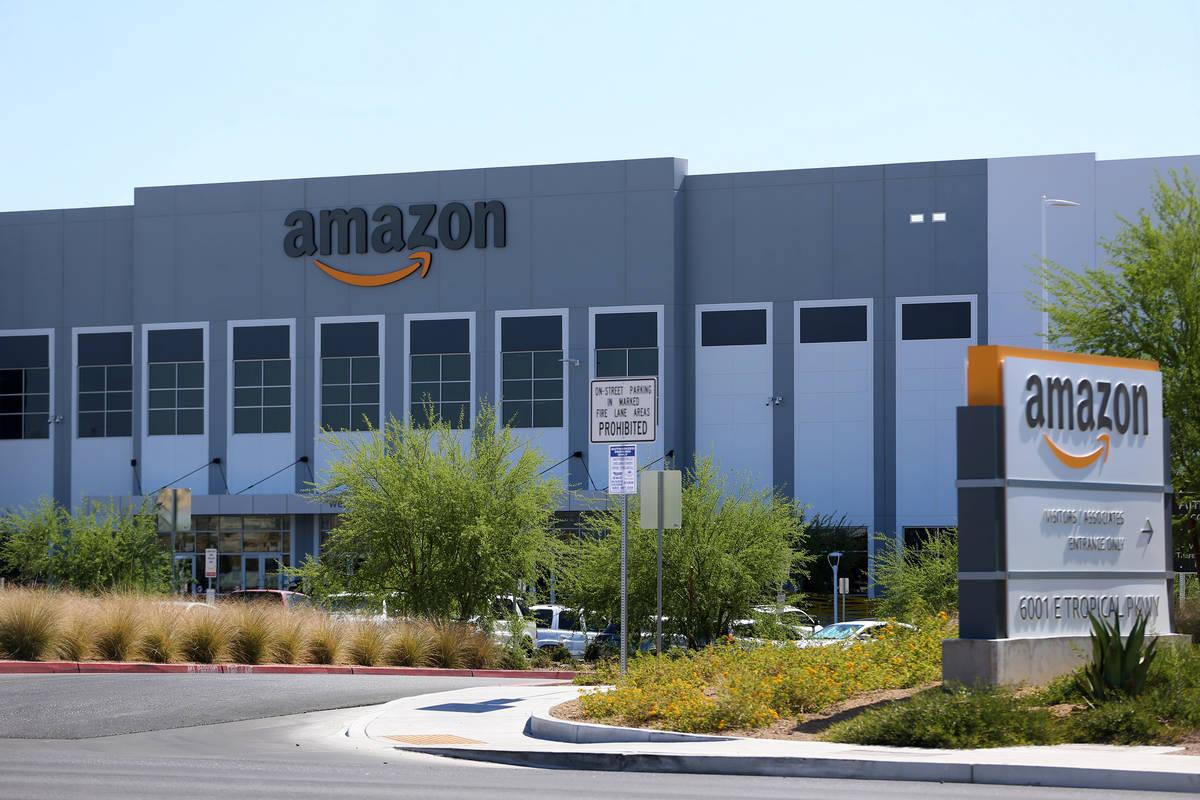 El Amazon Fulfillment Center, ubicado en 6001 E. Tropical Parkway, North Las Vegas, miércoles ...