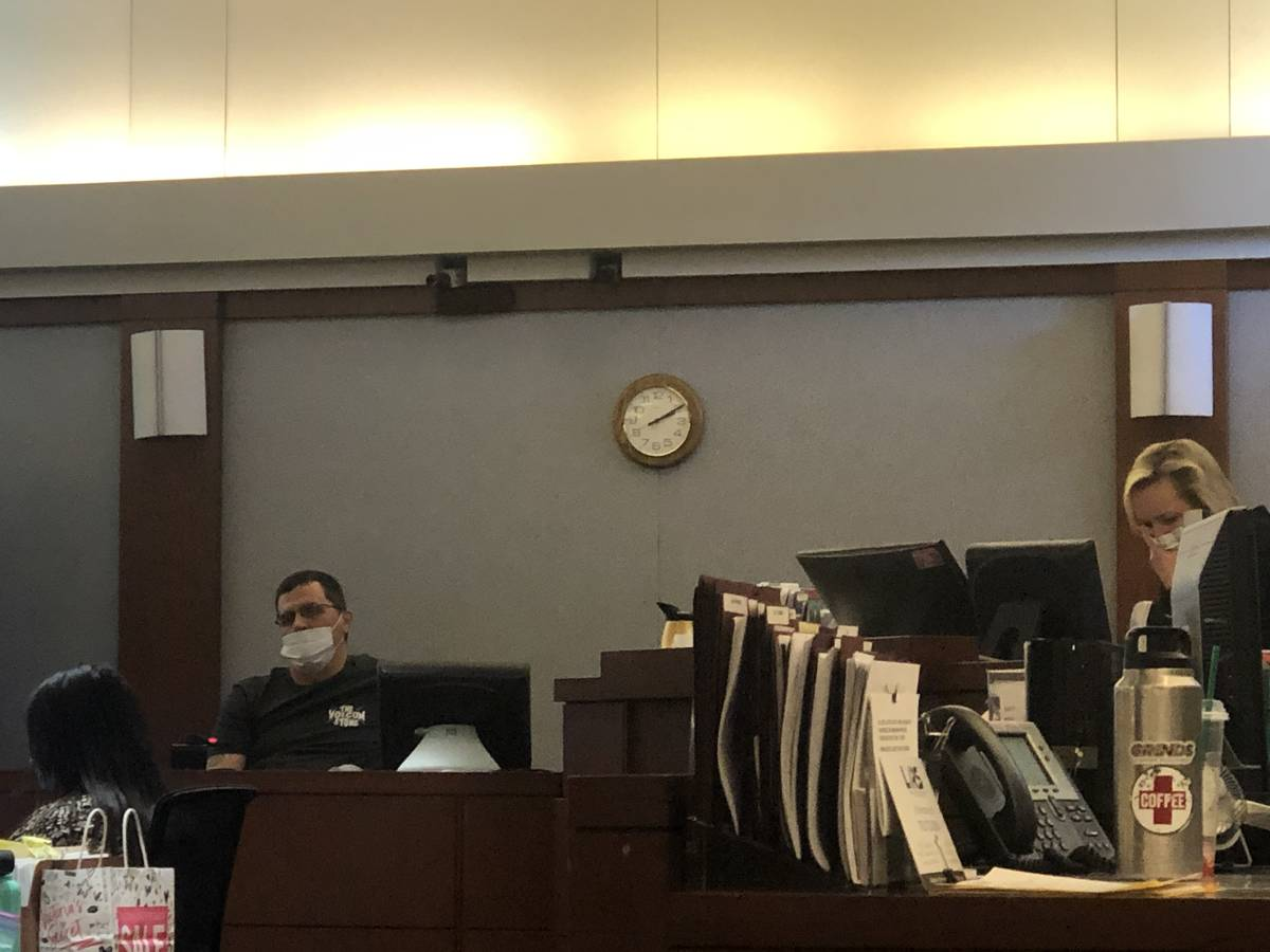 Jason Casteel, the former live-in manager at the Alpine Motel Apartments, testifies in court at ...