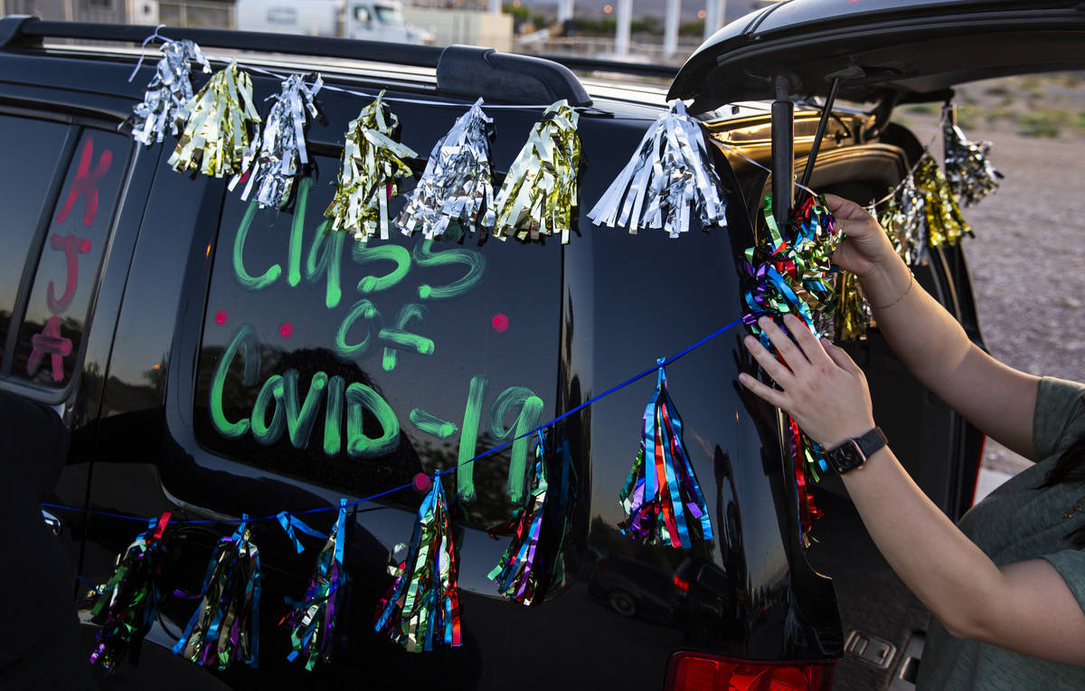 Desert Oasis High School hosted a senior prom parade in Las Vegas in this May 1, 2020, file pho ...
