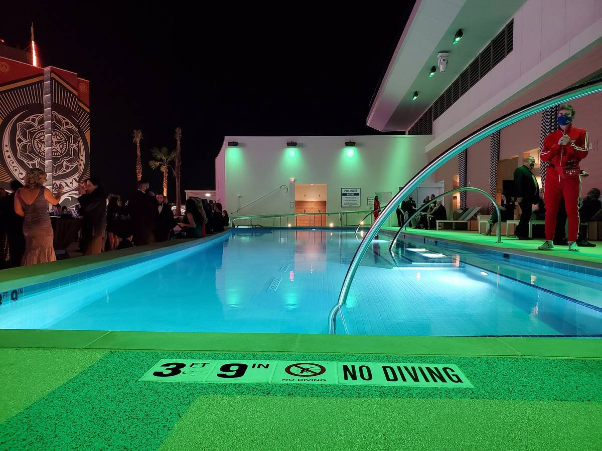 Stadium Swim at Circa. (Mike Shoro / Las Vegas Review-Journal)