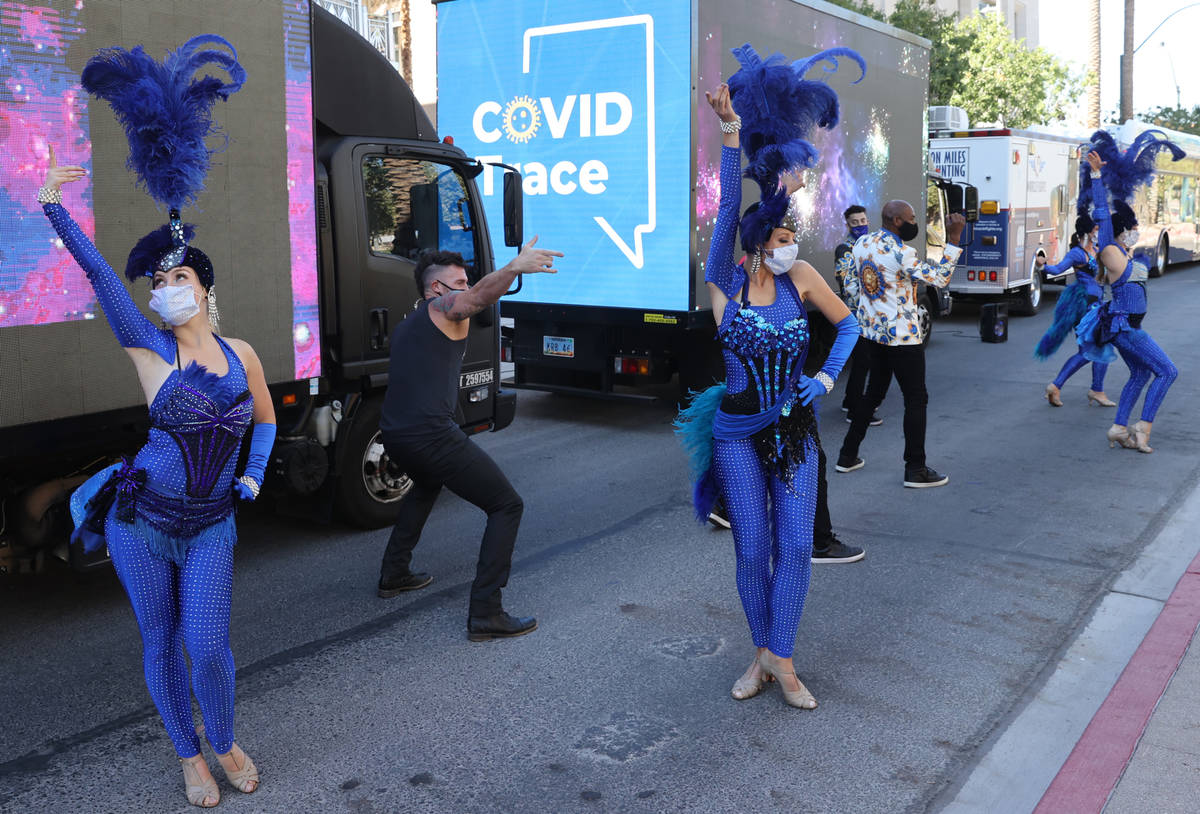 Las Vegas performers, celebrities, entertainers and business people put on a show at the The Sm ...