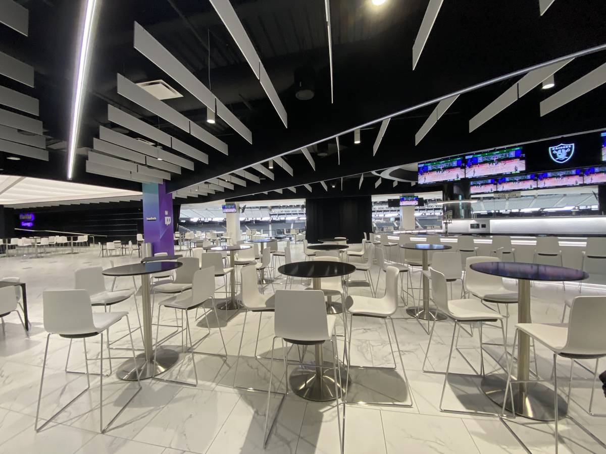 A look inside the Twitch Lounge inside Allegiant Stadium. (Mick Akers/Las Vegas Review-Journal)