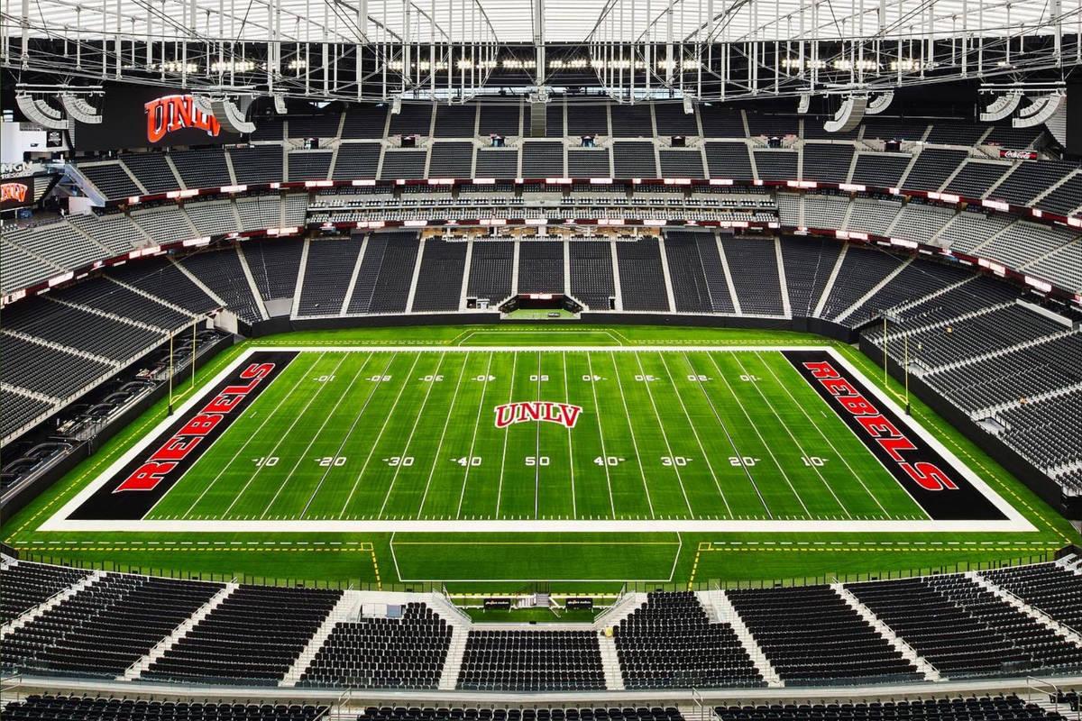 Allegiant Stadium is ready for UNLV's first home game of the 2020 season. (@AllegiantStadm/Twitter)