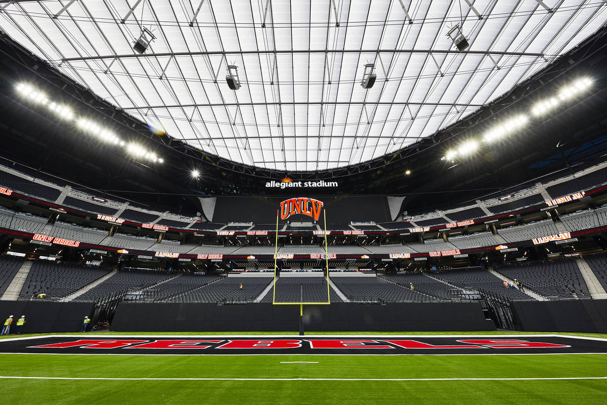 Allegiant Stadium is ready for UNLV's first home game of the 2020 season. (UNLV Athletics)