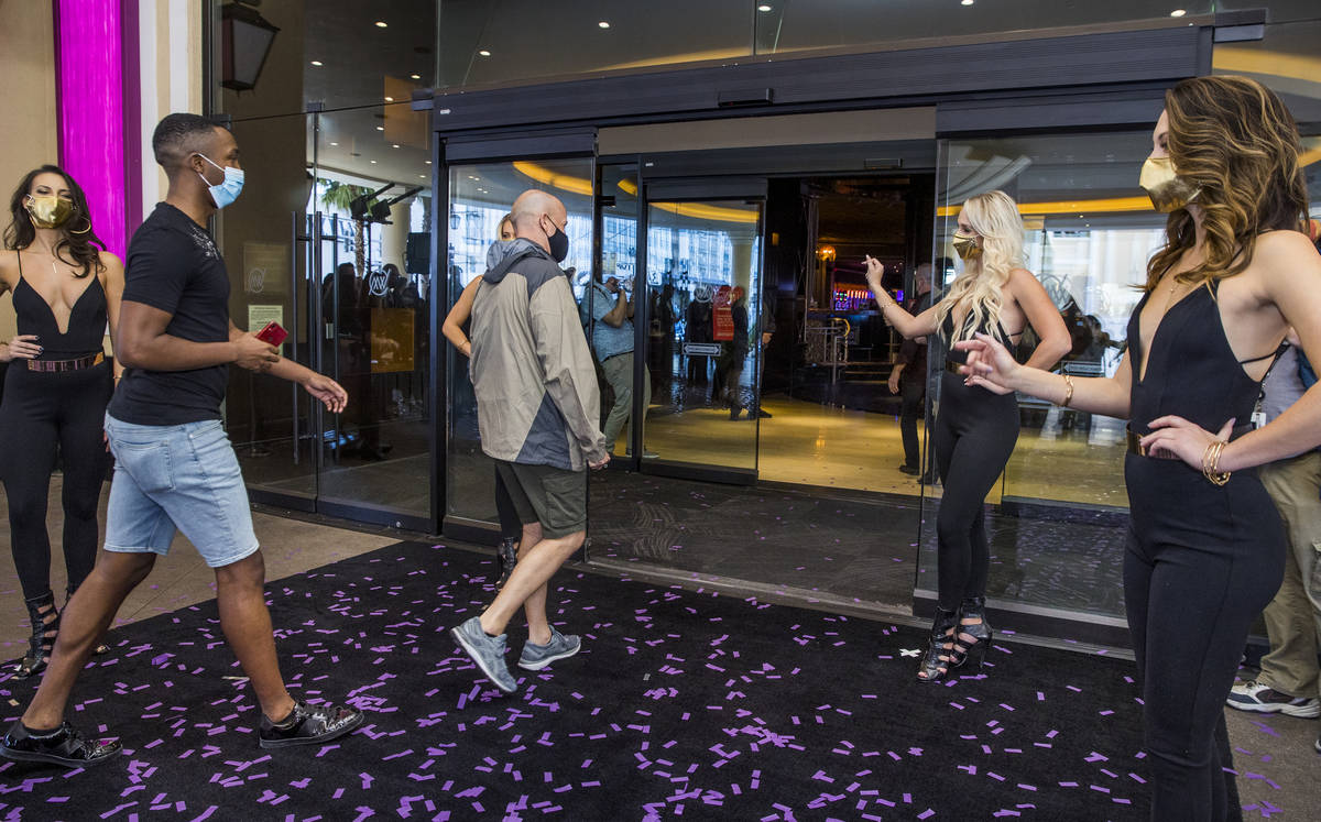Guests are welcomed in following the reopening celebration for the The Cromwell as a new 21-onl ...